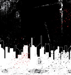 city and grunge background vector image
