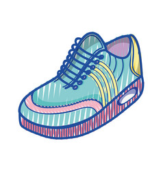 Color comfortable sneakers fitness vector