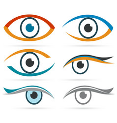 colorful icons eye set for design vector image
