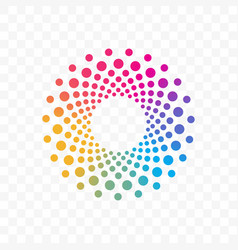 company color circle dots brand icon vector image
