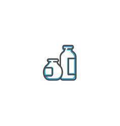 dairy icon design gastronomy icon vector image