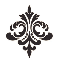 Damask central element isolated vector