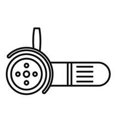 Electric angle grinder icon outline style vector