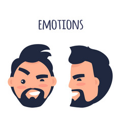 Emotions face from different angles vector