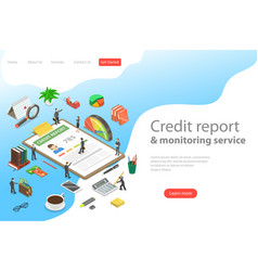 flat isometric landing page template of vector image