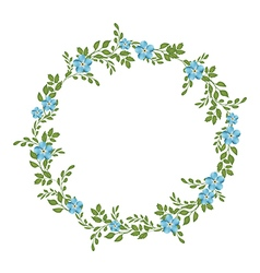 floral concept of circle frame vector image
