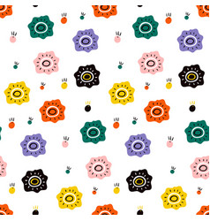 flower field in a flat style creative vector image