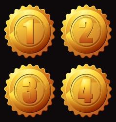 Gold rank medallion vector