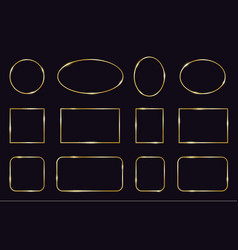 golden frames modern gold geometric frames vector image