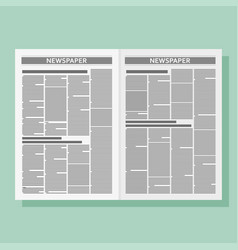 Graphical design newspaper template vector