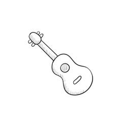 Guitar sketch icon vector image