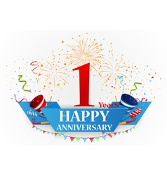 Happy Anniversary celebration vector