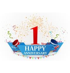 Happy anniversary celebration vector