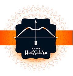 Hindu festival dussehra greeting design vector