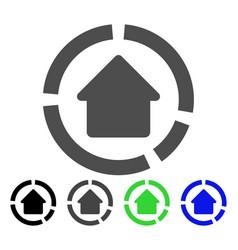 House diagram icon vector