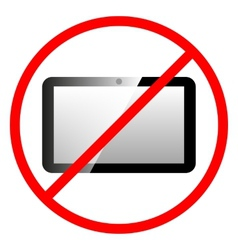 Icon ban tablet computer vector image