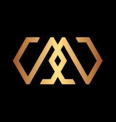 initial luxury logo creative concept vector image