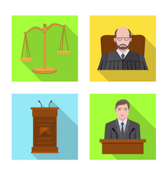 Law and lawyer symbol vector