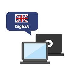Learn english design vector