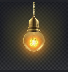 Light bulb retro loft light bulb symbol vector