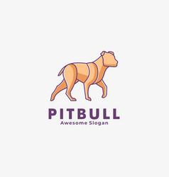 Logo dog line art style vector