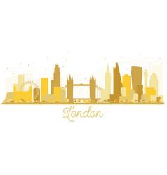 London england city skyline golden silhouette vector