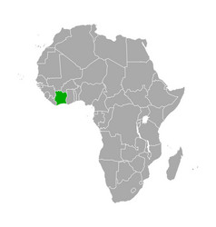 map cote d ivore in africa vector image