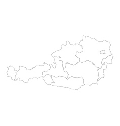 Map of Austria vector