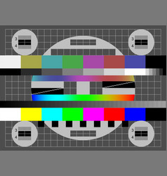no signal tv color test screen vector image
