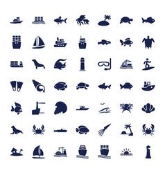 Ocean icons vector