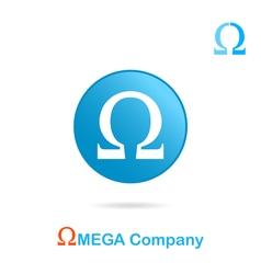Omega letter logo concept vector