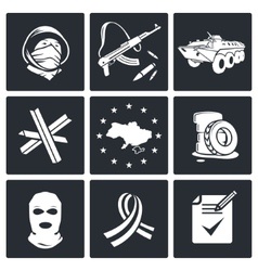 Opposition icon set vector image