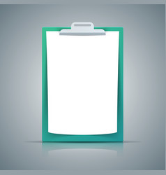paper a4 icon on grey background vector image