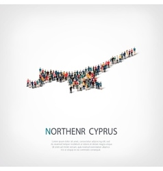 people map country Northern Cyprus vector image