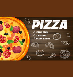 pizza pizzeria italian template flyer baner with vector image