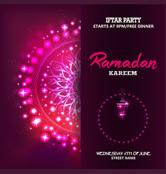 ramadan mubarak eid mubarak vector image
