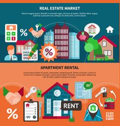Real estate banner set vector