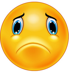 sad emoticon face vector image