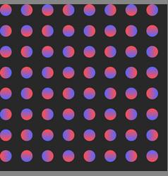 seamless circle pattern gradient dot art vector image