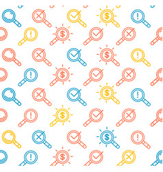search signs pattern background on a white vector image