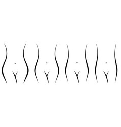 set female figures hips fat and thin process vector image