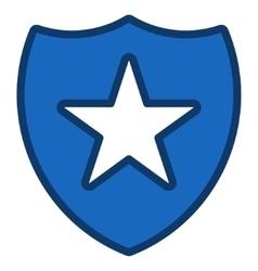 Shield Star Toolbar Icon vector
