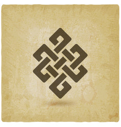 shrivatsa endless knot vintage background vector image