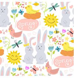 spring natural floral blossom gardening vector image