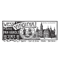 state banner west virginia panhandle vector image