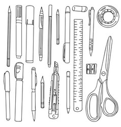 stationery art materials vector image vector image