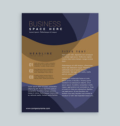 stylish brown and blue brochure flyer design in vector image