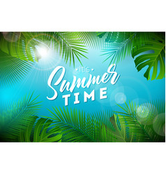 Summer time with typography letter vector