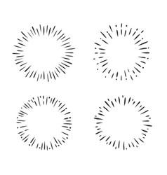 sunburst circle set of sun vector image