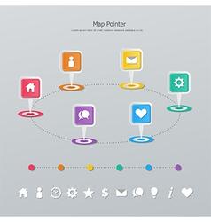 timeline map pointer vector image